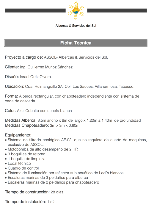 Ficha Técnica Villahermosa
